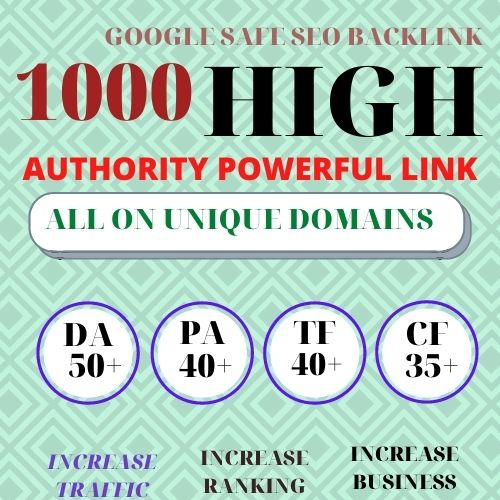 Build 1000+ Backlink with high DA PA with Unique website