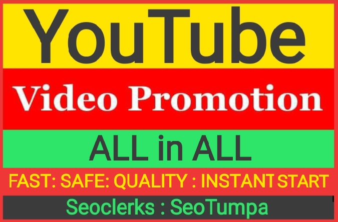 YouTube Video Promotion ALL in ALL Service And Fast Delivery