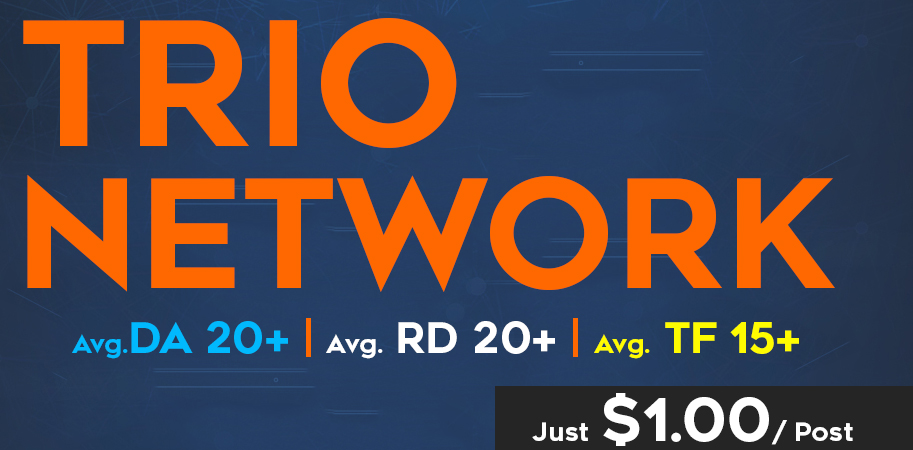 TRIO Links - The Real SERP Booster - Rank your site now