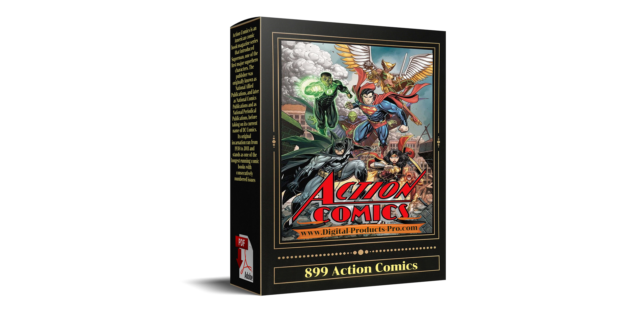 899 Action Comics,  SUPERMAN,  Full Editions,  BONUS,  12 GigaBytes Digital Products with Resell Rights