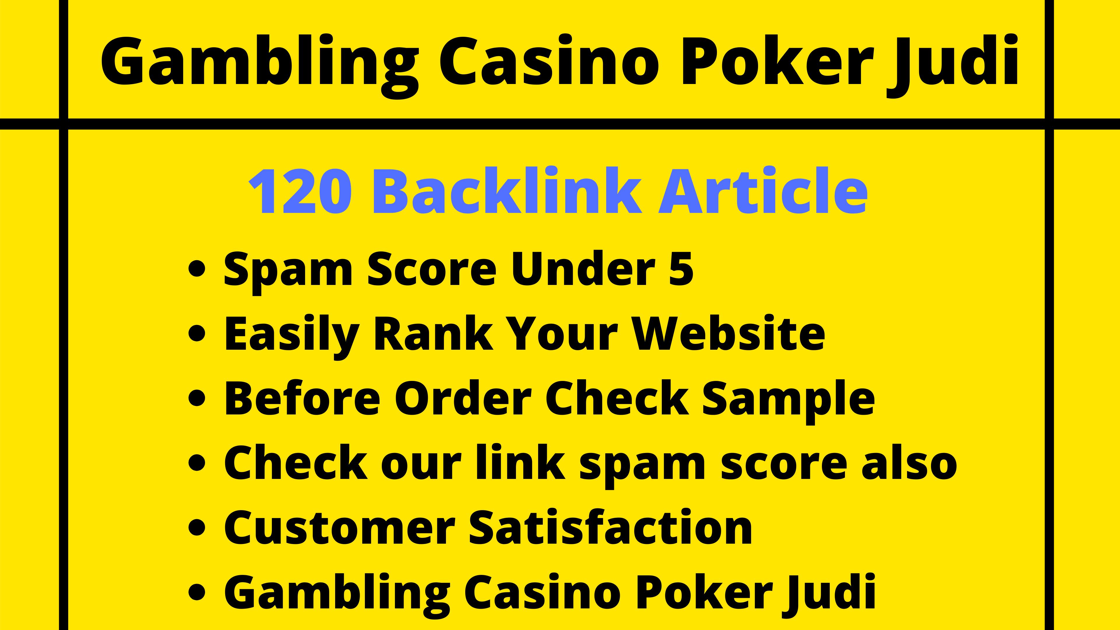 Gambling Casino Poker Judi 120+ SEO Dofollow Backlink