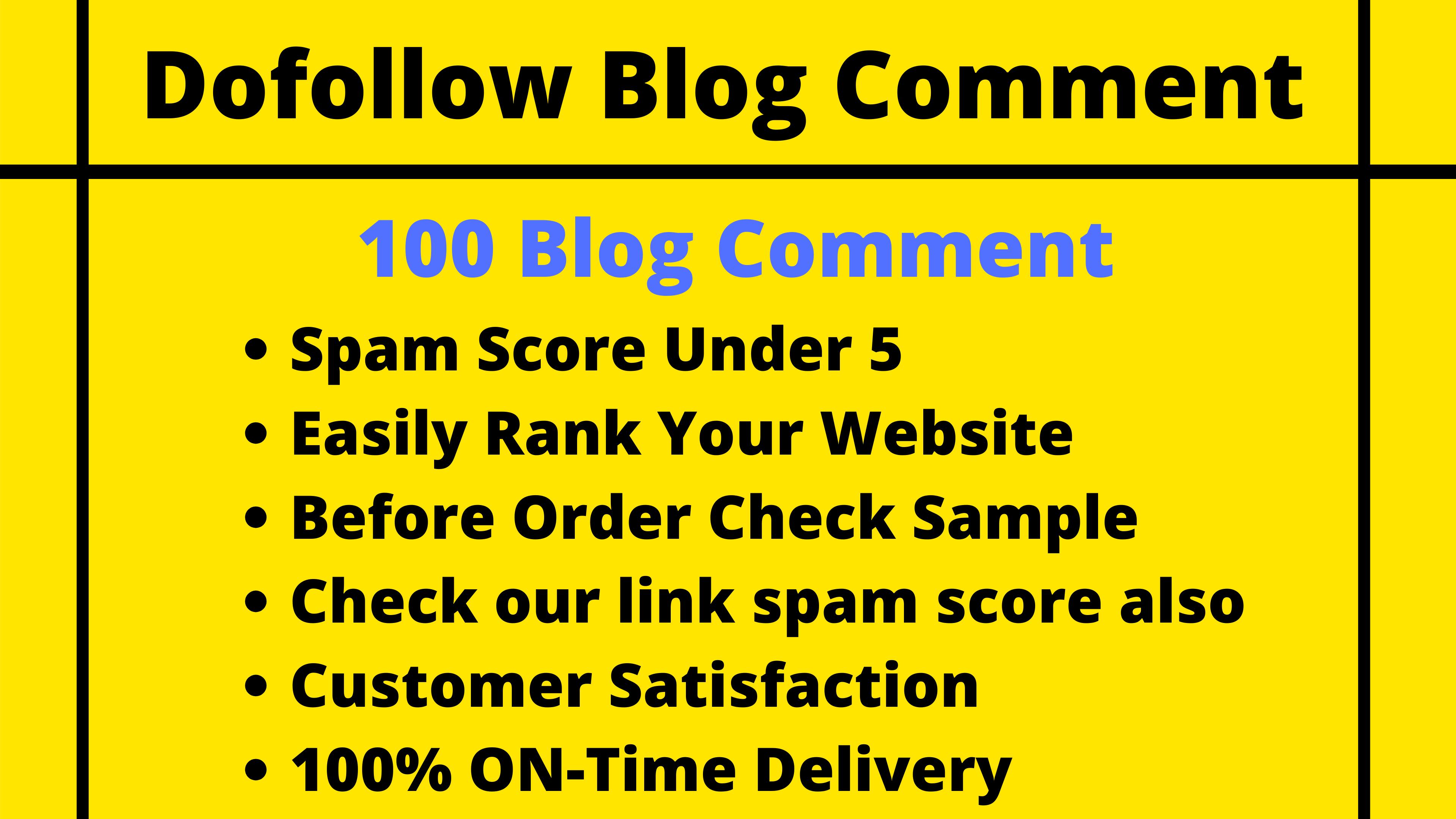 100 Dofollow Blog Comment Low Spam Score High DA PA
