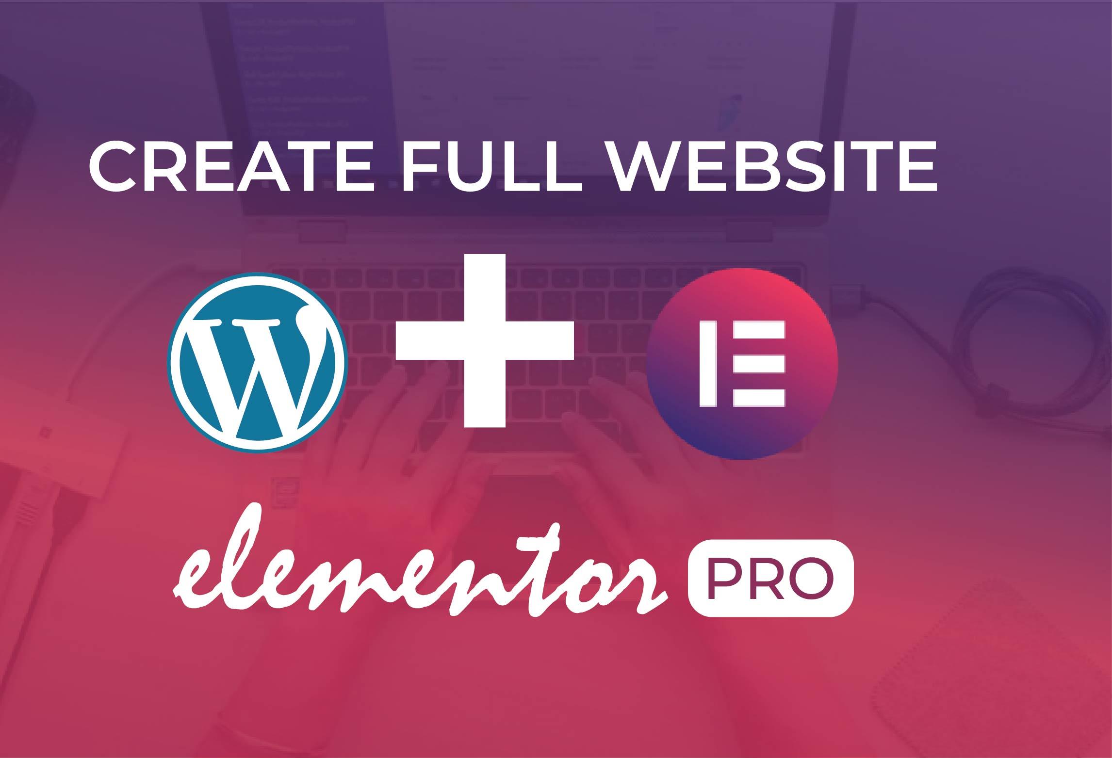 I will create elementor expert, duplicate website,  template, Figma to elementor pro
