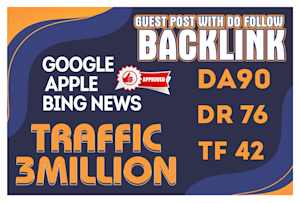 I provide you guest post service with dofollow backlink
