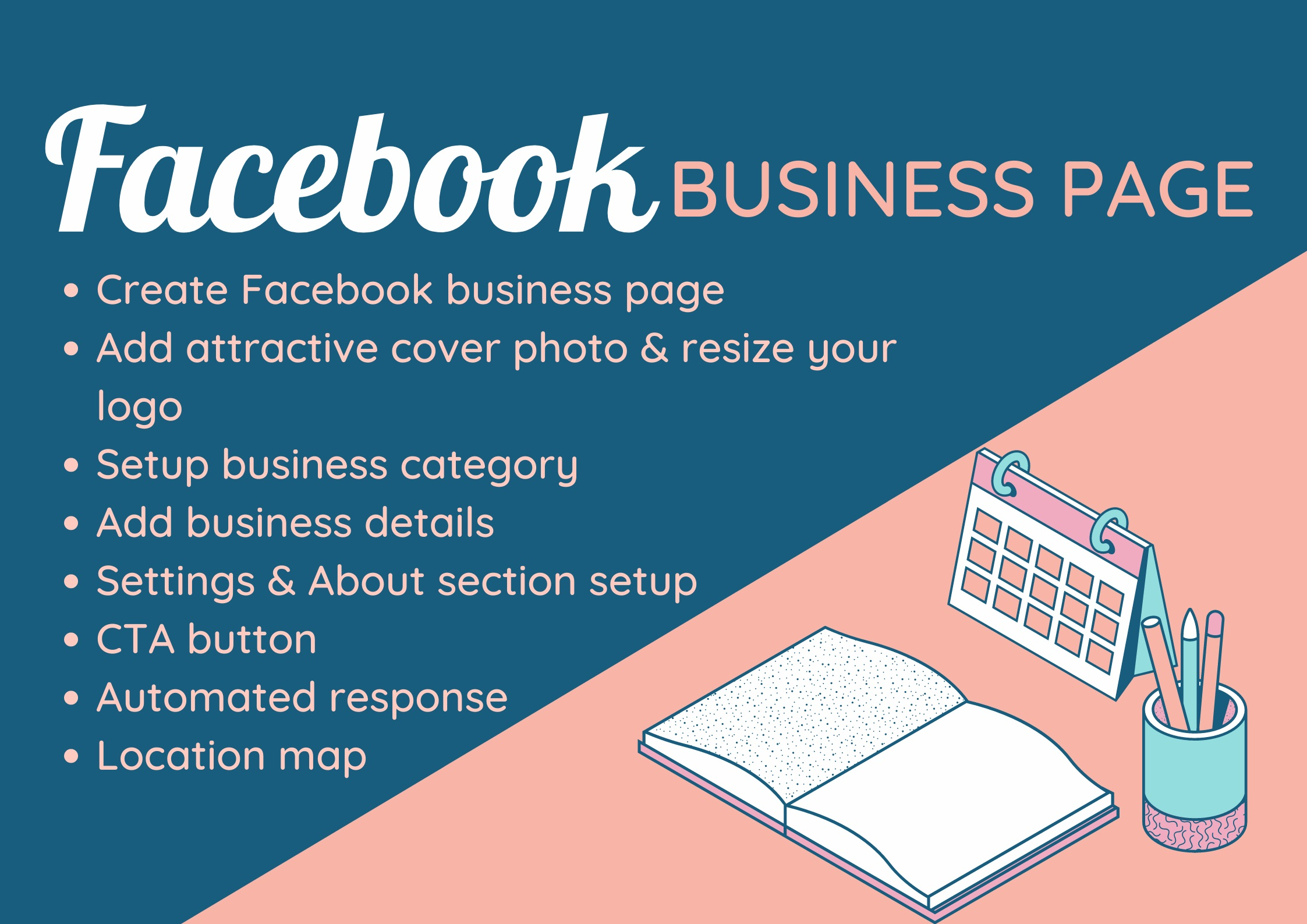 I will create,  setup and design your Facebook Business Page professionally