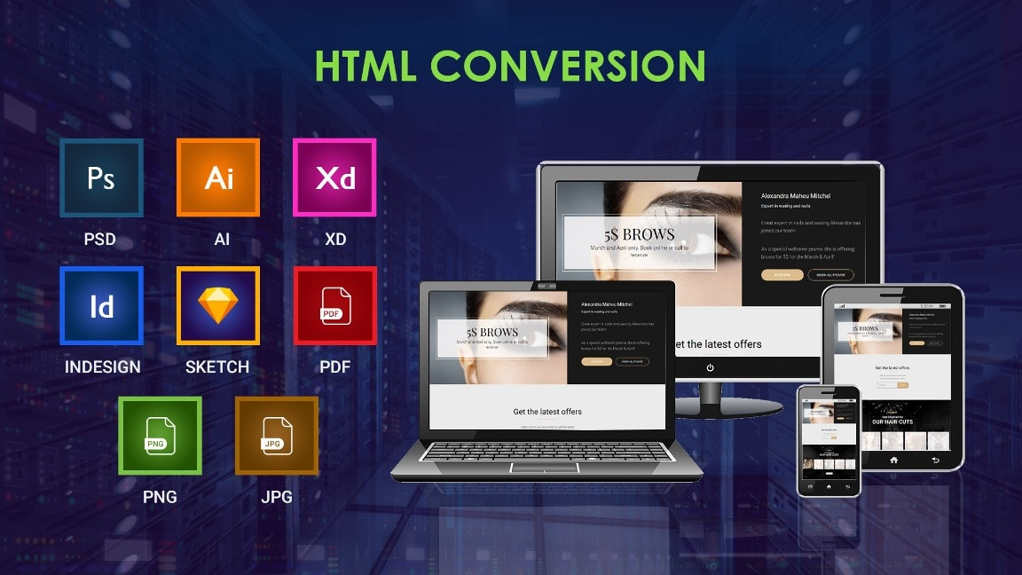 I will convert PSD to html/bootstrap,  XD to Html/bootstrap any kind of conv