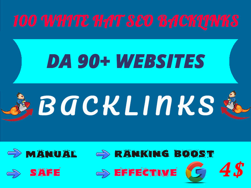 100 white hat SEO backlinks to get google top ranking