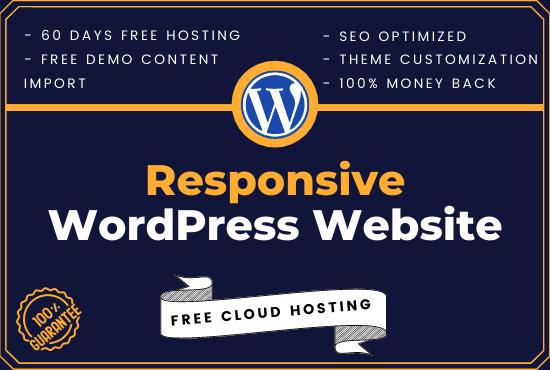I will build modern and beautiful WordPress website blog