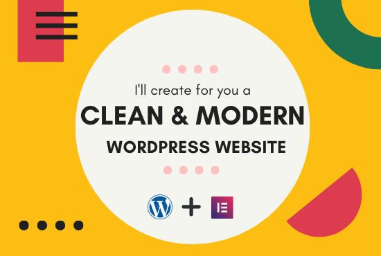 I will design clean & modern WordPress Website