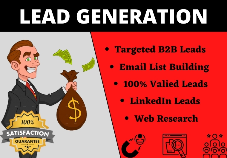 I will do targeted b2b lead generation,  linkedin leads,  niche targeted email list