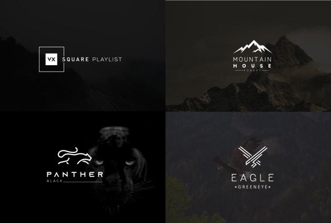 I will design modern minimalist flat professional business and company logo