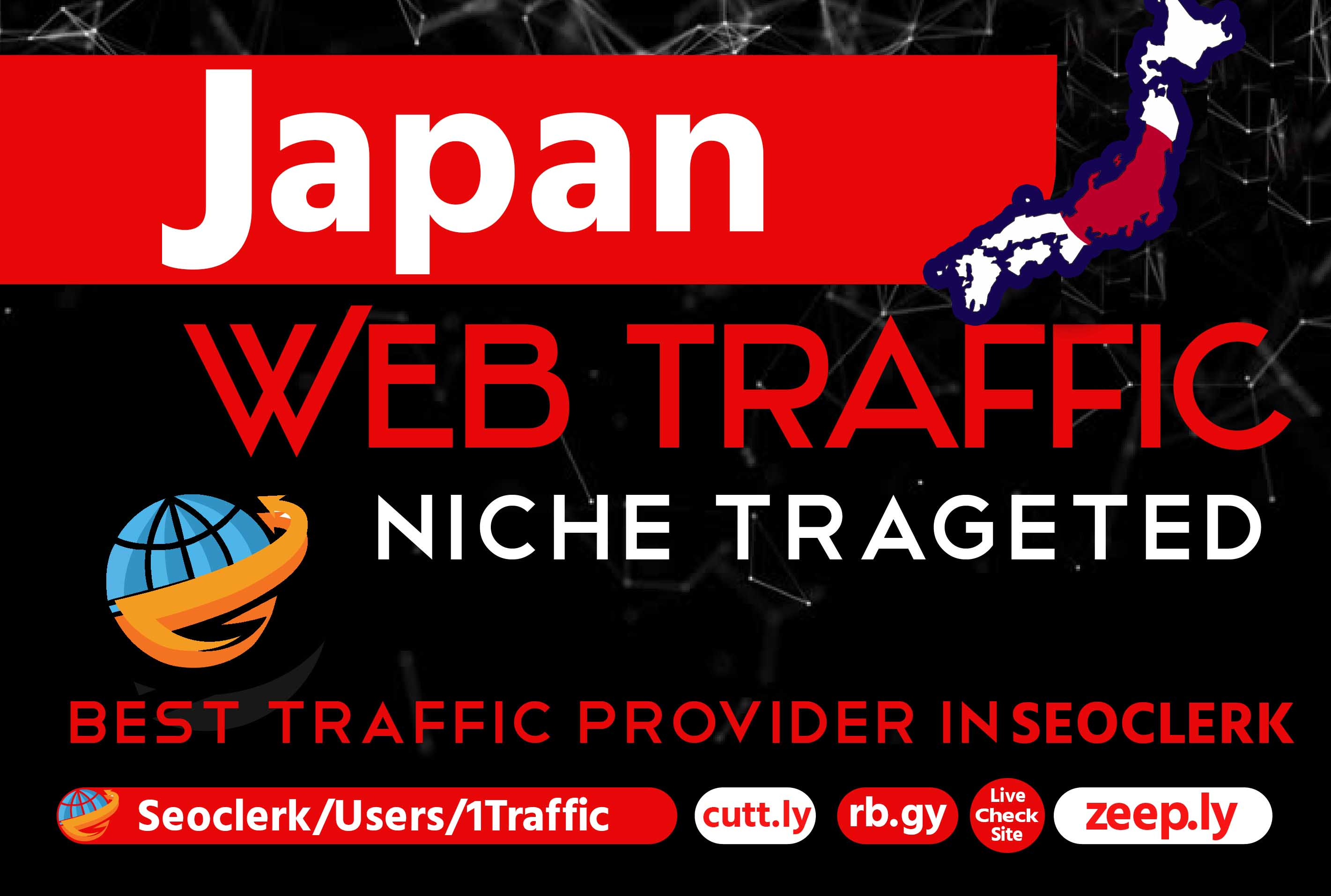 Organic Japan 1000 real Send Website traffic for your website