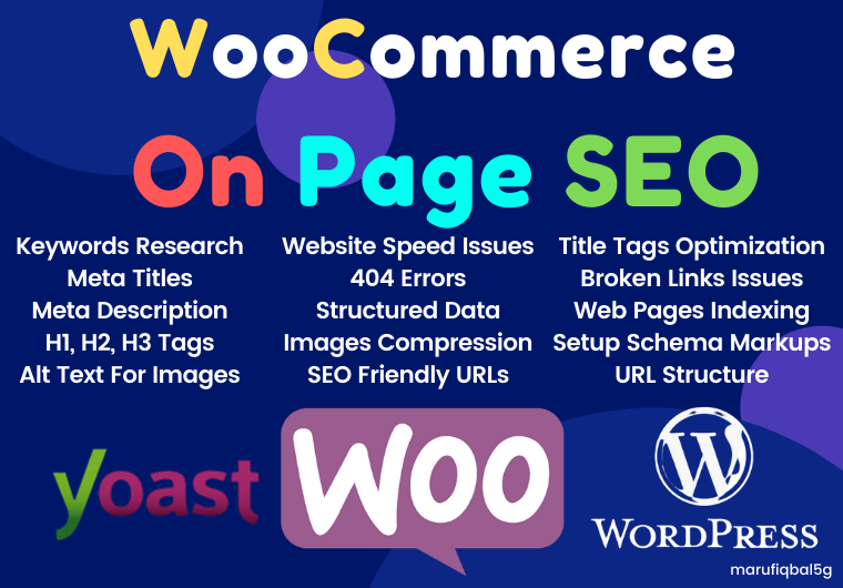 I will perform expert onpage SEO for your WordPress woocommerce store.