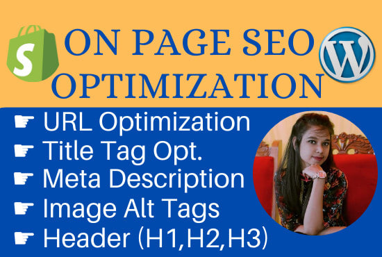 do on page SEO optimization for wordpress and shopify store