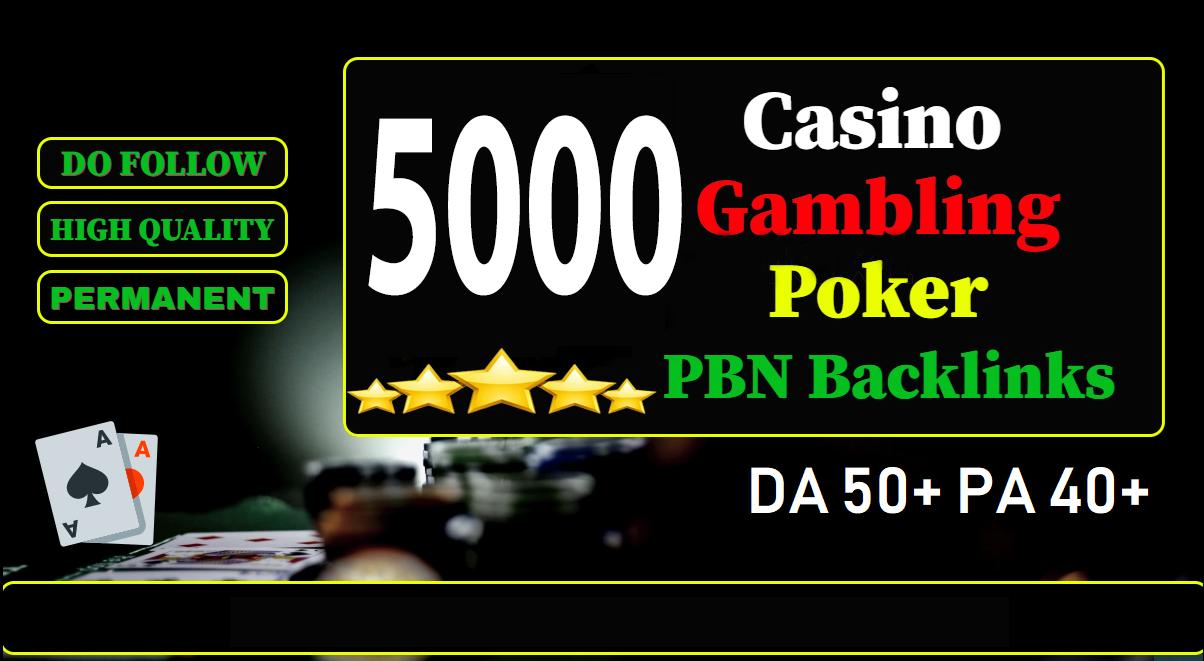 Get 5000 Web 2.0 Casino,  Gamebling,  Poker PBN Dofollow Backlinks improve your website ranking