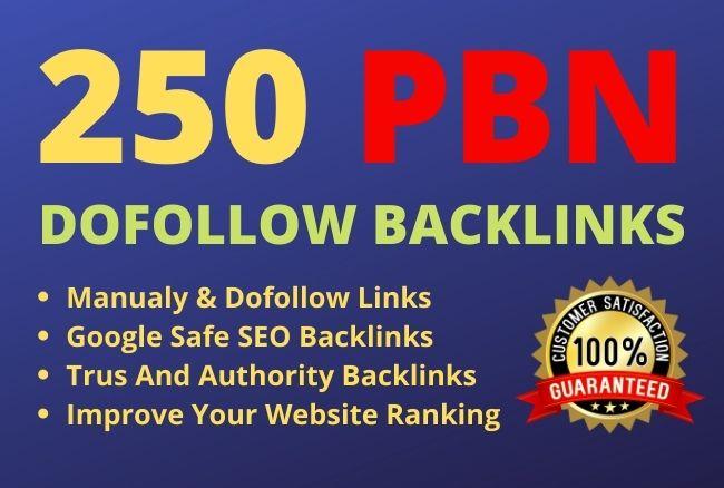 Get 250 Web 2.0 PBN Dofollow Backlinks improve your website ranking