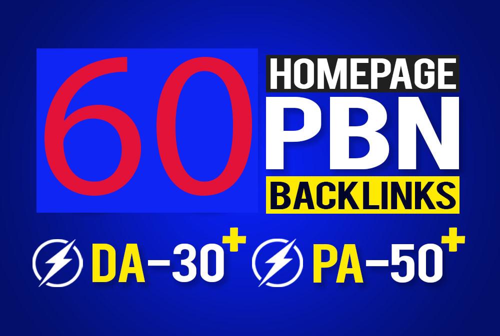 Get 60 Web 2.0 PBN Dofollow Backlinks improve your website ranking