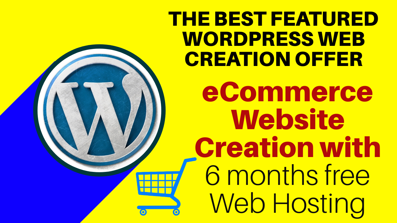 I will create eCommerce WordPress Website with 6 Months Free Hosting