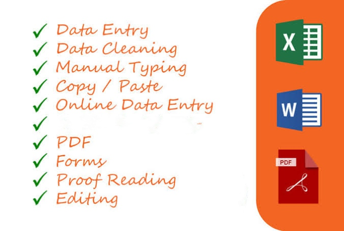 Copy paste,  typing,  Data entry