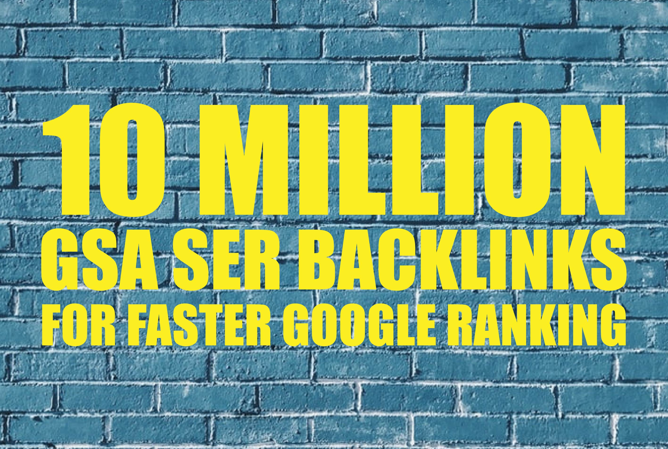 I will build 10 Million tier 2 and 3 backlinks for google ranking