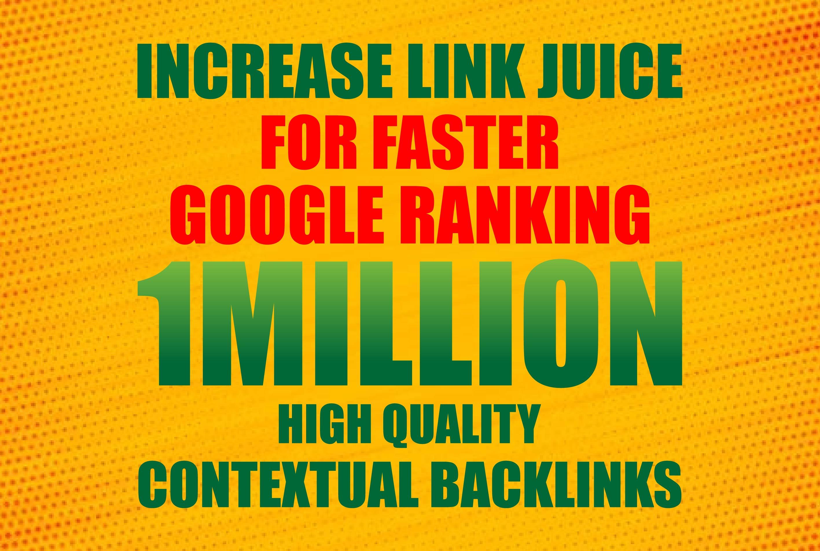 Do 1Million HQ Contextual Backlinks
