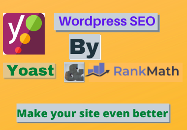 I will fix wordpress onpage or onsite issues with yoast SEO and rank math plugin
