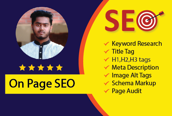 I will do monthly on-page SEO service perfectly.