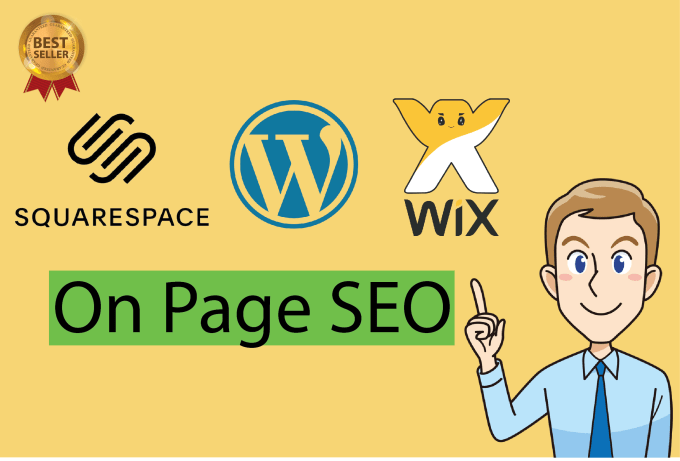 I will give onpage SEO service for wix,  wordpress or squarespace websites for ranking