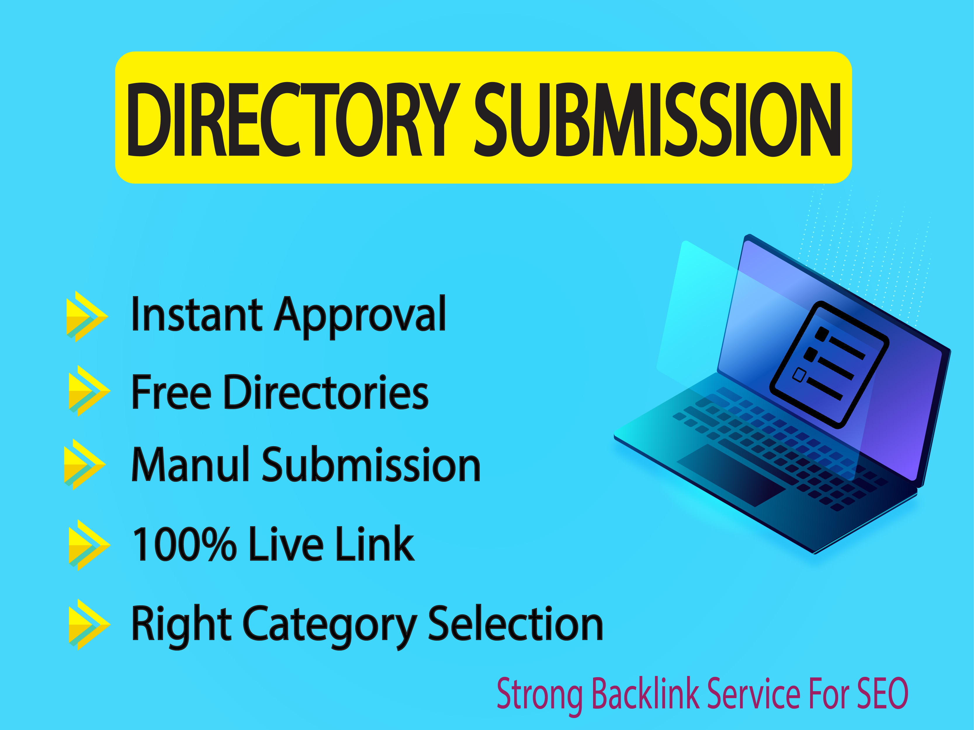 Instant Approve 50 Live Link Directory Submission Manually Web Directories Rank Up Website