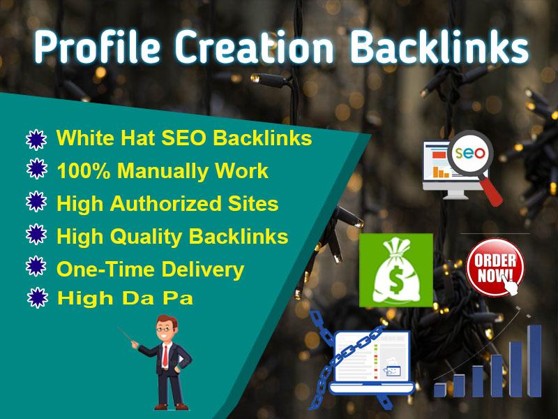 I Will Create Manually 40 Do-follow High DA PA Profile Backlinks