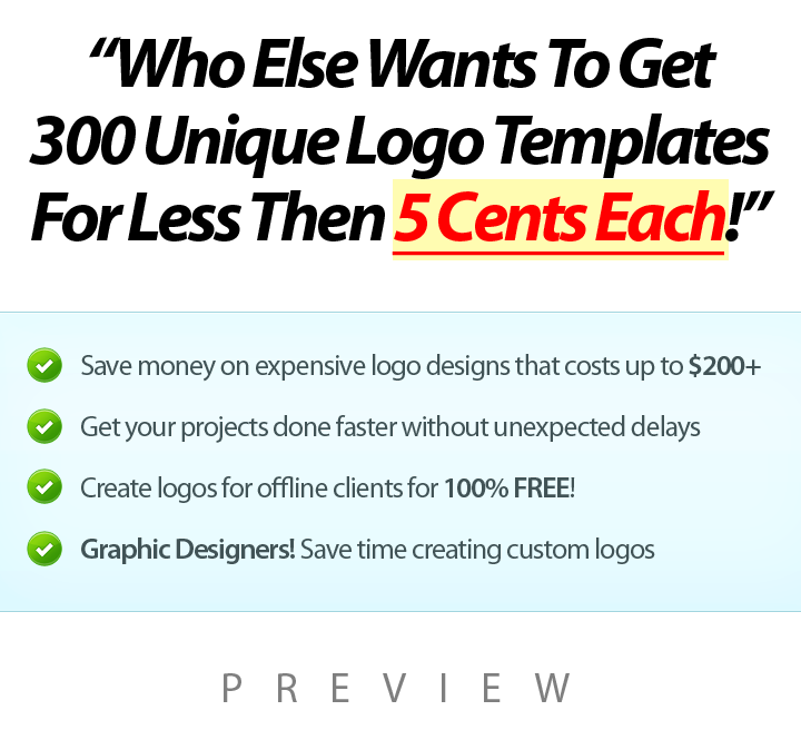 300 UNIQUE LOGOS for 21 Niches JPEG and PSD