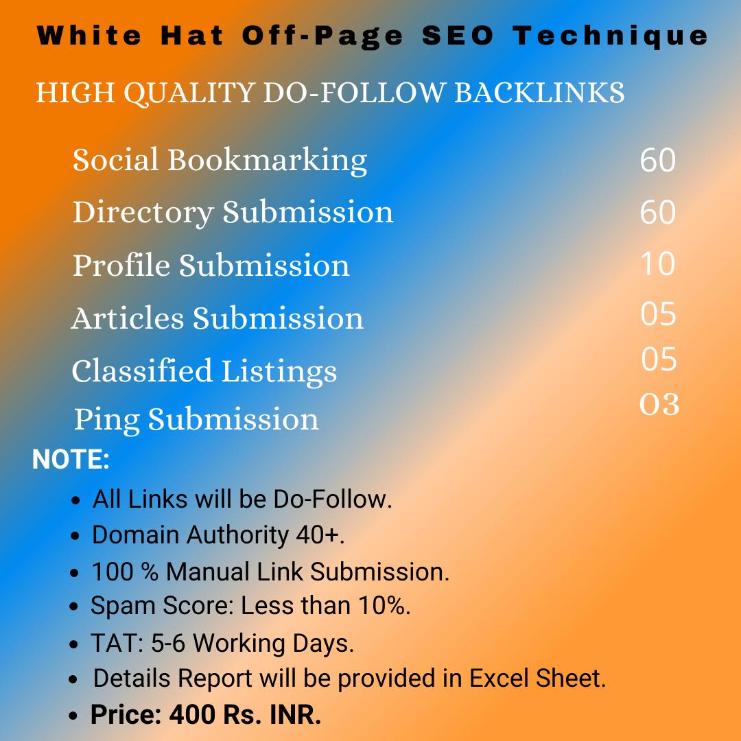 High Quality Do-Follow Backlinks