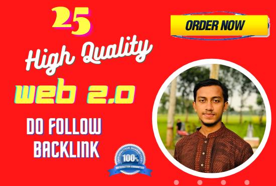 I will provide 15 high authority web 2.0 backlinks