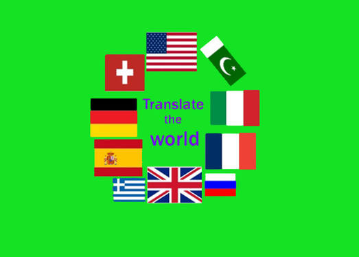 Translation from English into any language or vice versa