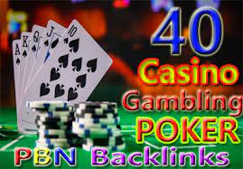 I Will Provide High Authority Casino poker/Gambling SEO Premium 40 HQ PBN Backlinks Google Top Rank.