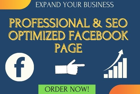 I will create and set up an SEO optimized facebook page