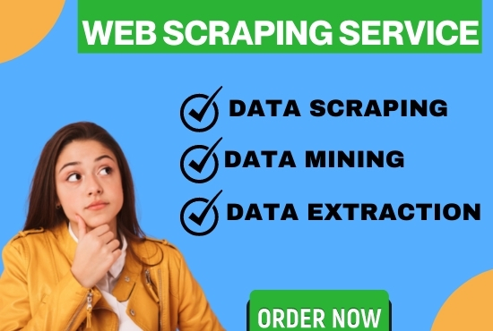 I will do Web Scraping,  Data Scraping,  Data Mining for any websites