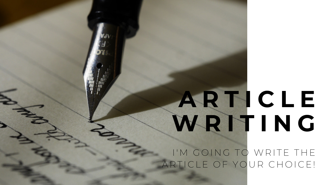 I'm writing whatever YOU want for youre BLOG or WEBSITE