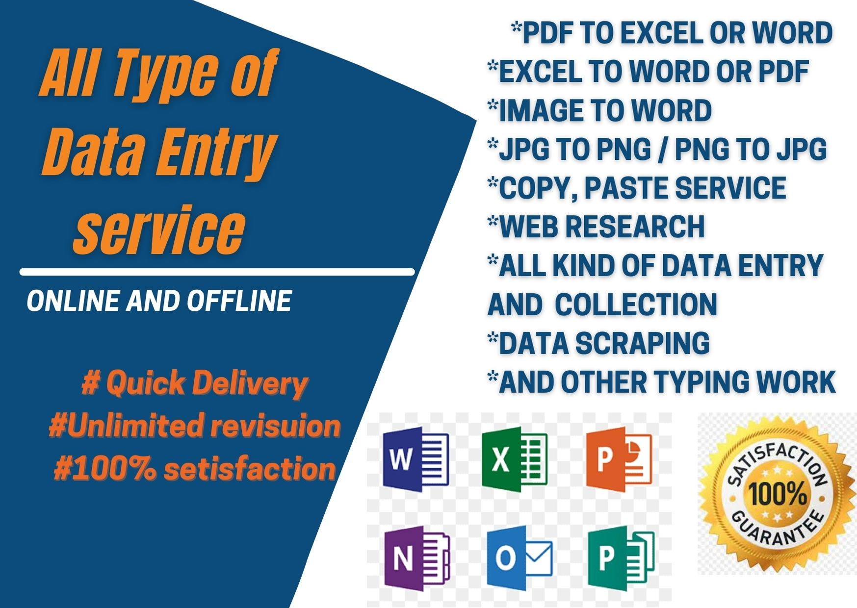 data entry,  typing,  web research,  copy paste as a virtual assistant