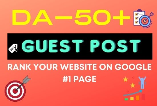 I will do business guest post on high da 95 to 40 dofollow backlink