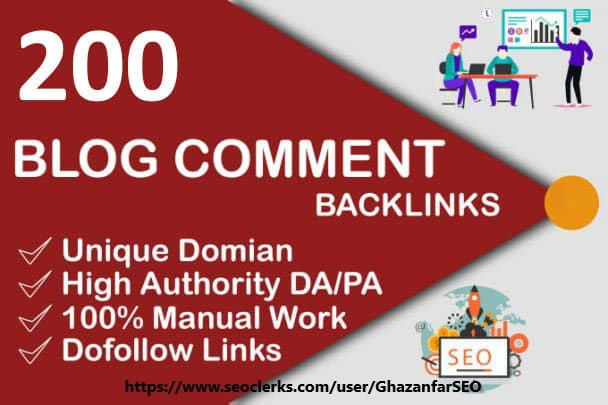 I will do 200 blog comments dofollow backlinks high da