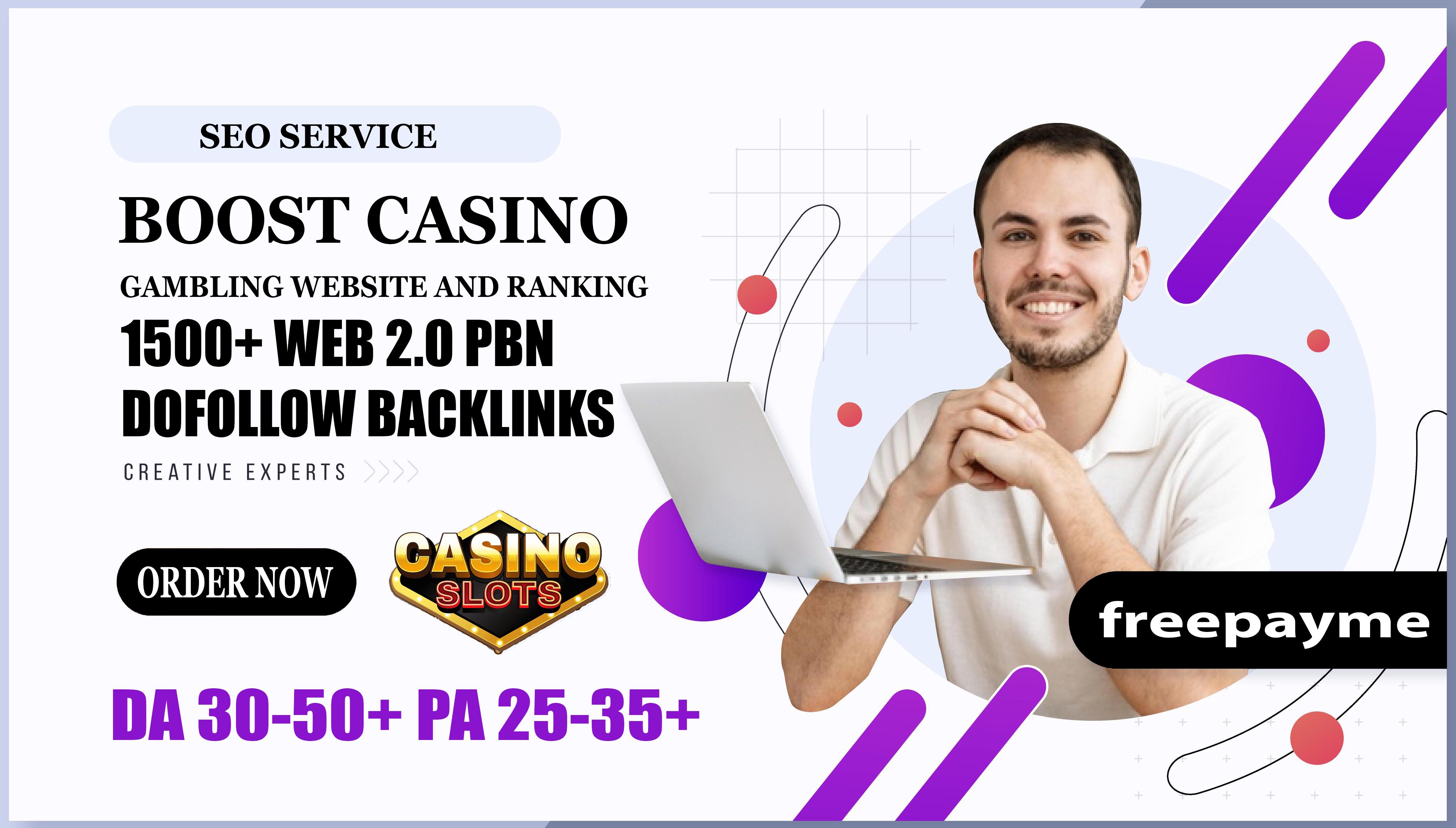 I will do 1500+ Web 2.0 PBN Dofollow Backlinks Boost Casino Gambling Website And Ranking
