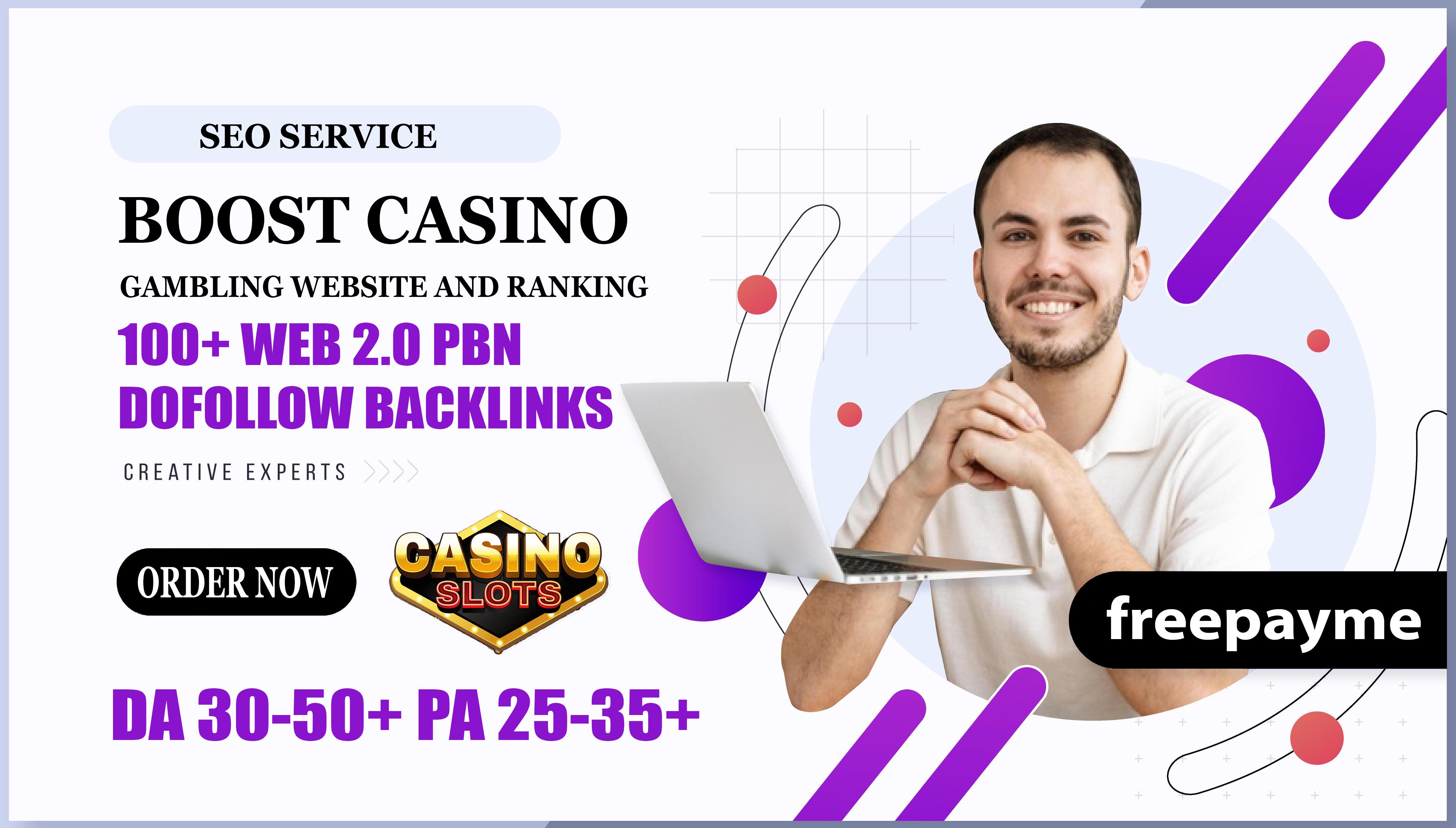 100+ Web 2.0 PBN Dofollow Backlinks DA 35+ PA 25+ Boost Casino Gambling Website And Ranking