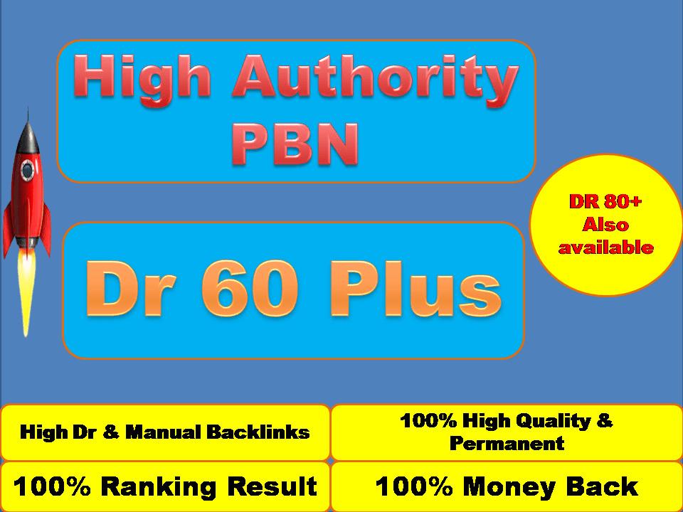 Build 60 High PA DA TF CF Home Page PBN Backlinks - Dofollow Quality Links