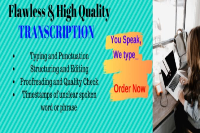 Professionally synced closed captions or. Srt and transcription of up to 30min for your video
