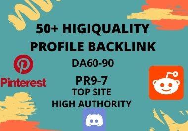 I will create 50 high da dofollow SEO profile backlinks