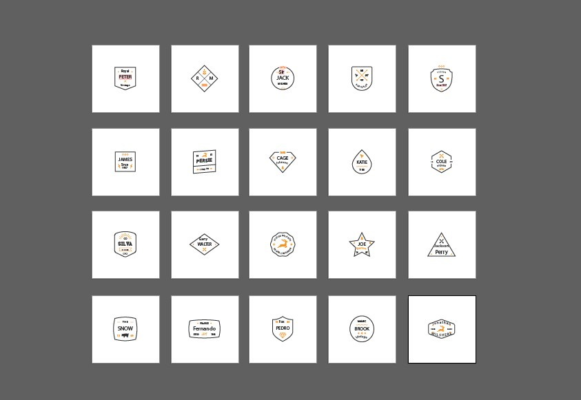 I will create an amazing minimal logos. minimal badge/vintage/retro/name badge
