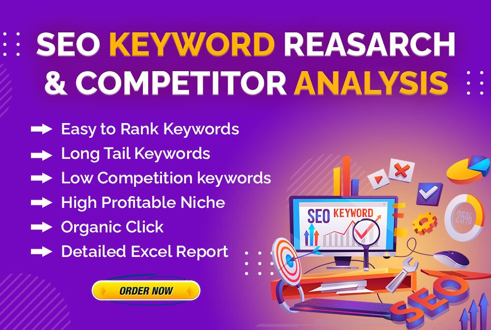 I Will do research high demand and low competitive longtail profitable keyword