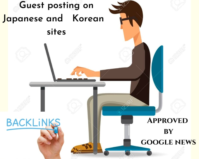 I will provide guest posting on Japanese and Korean sites