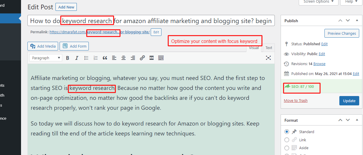 I will do Wordpress On-page SEO with rank math plugin also improving site score 90